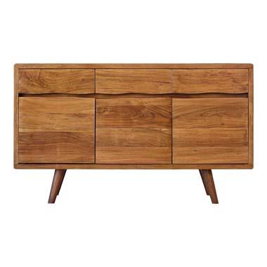 3-door Accent Cabinet with Adjustable Shelf Natural