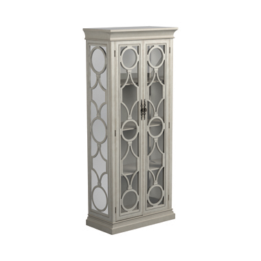 2-door Display Tall Cabinet Antique White