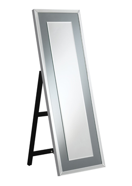 Rectangular Cheval Mirror with LED Light Silver